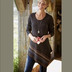 Soft Surroundings Sweater Raku Tunic Asymmetrical